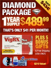 Order VigRX Plus™ Diamond Package Now!